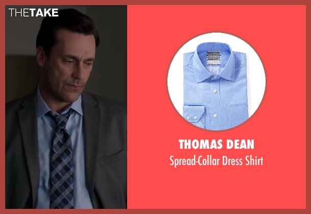 THOMAS DEAN blue shirt from Million Dollar Arm seen with Jon Hamm (J.B. Bernstein)