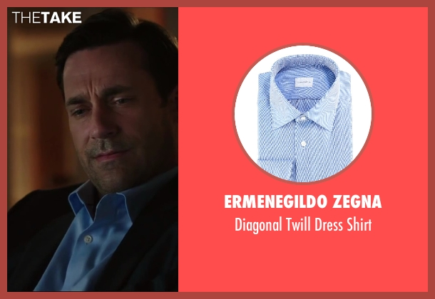 ERMENEGILDO ZEGNA blue shirt from Million Dollar Arm seen with Jon Hamm (J.B. Bernstein)