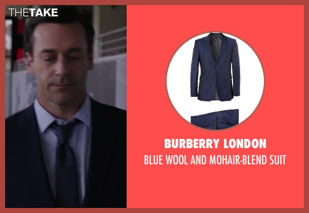 BURBERRY LONDON blue suit from Million Dollar Arm seen with Jon Hamm (J.B. Bernstein)