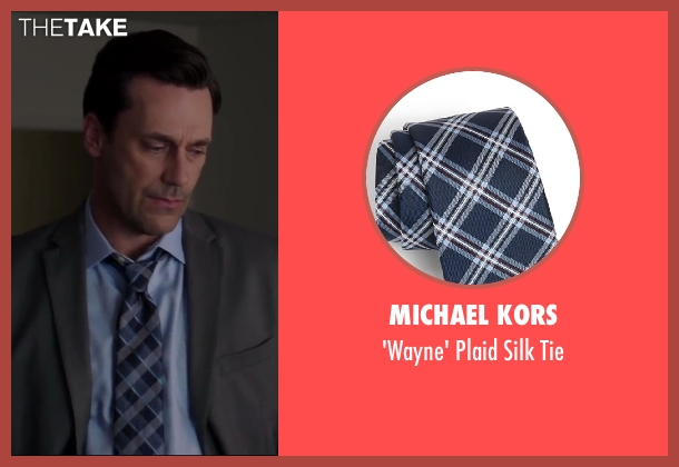Michael Kors blue tie from Million Dollar Arm seen with Jon Hamm (J.B. Bernstein)