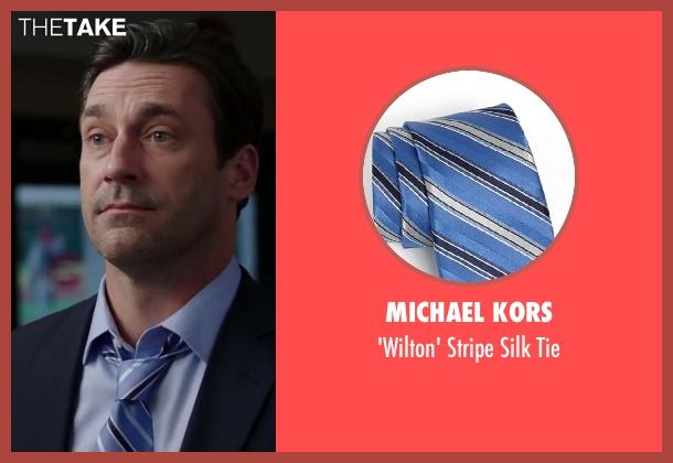 Michael Kors blue tie from Million Dollar Arm seen with Jon Hamm (J.B. Bernstein)