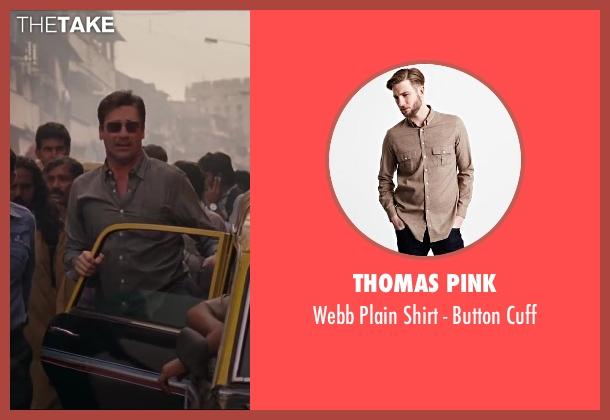 Thomas Pink brown cuff from Million Dollar Arm seen with Jon Hamm (J.B. Bernstein)