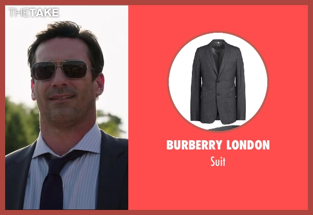 BURBERRY LONDON gray suit from Million Dollar Arm seen with Jon Hamm (J.B. Bernstein)