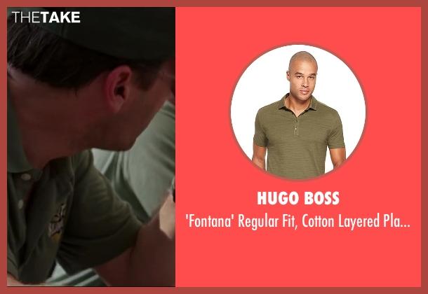 HUGO BOSS green shirt from Million Dollar Arm seen with Jon Hamm (J.B. Bernstein)