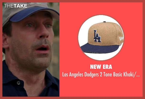 New Era khaki/oceanside from Million Dollar Arm seen with Jon Hamm (J.B. Bernstein)