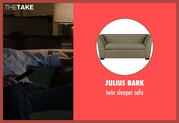 Julius bark sofa from Million Dollar Arm seen with Jon Hamm (J.B. Bernstein)