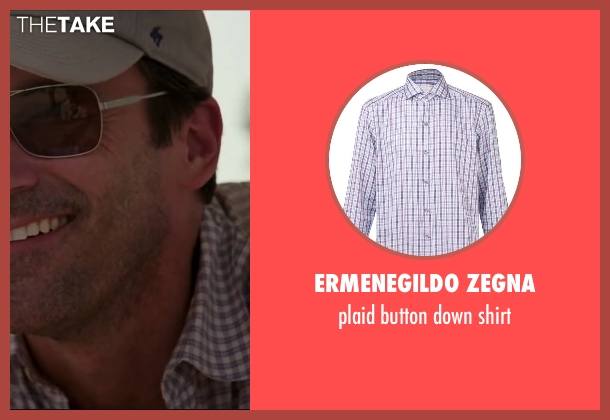 ERMENEGILDO ZEGNA white shirt from Million Dollar Arm seen with Jon Hamm (J.B. Bernstein)