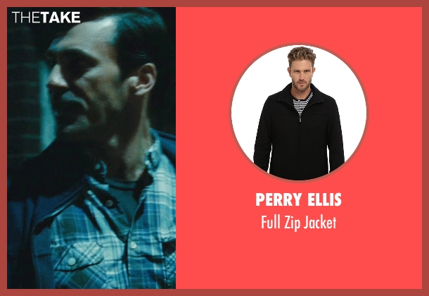 Perry Ellis black jacket from The Town seen with Jon Hamm (FBI S.A. Adam Frawley)