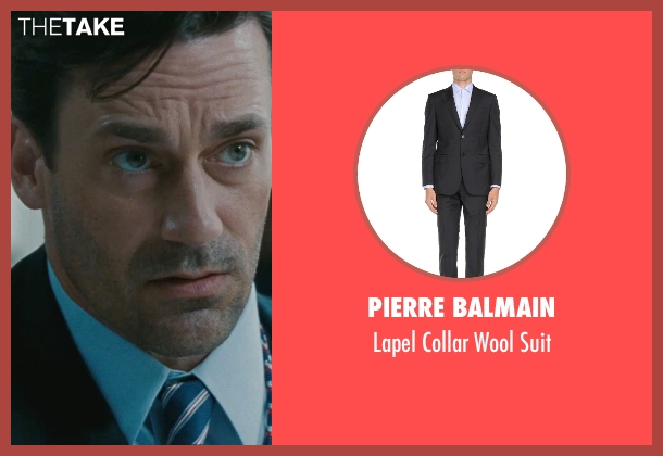 Pierre Balmain black suit from The Town seen with Jon Hamm (FBI S.A. Adam Frawley)