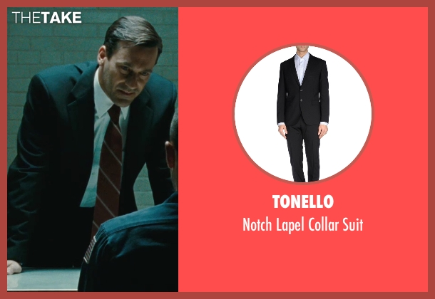 Tonello black suit from The Town seen with Jon Hamm (FBI S.A. Adam Frawley)