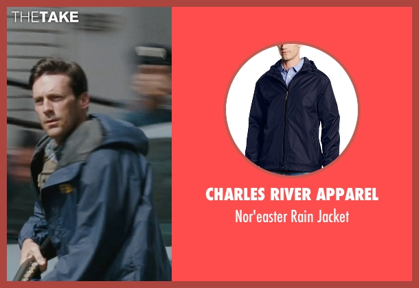 Charles River Apparel blue jacket from The Town seen with Jon Hamm (FBI S.A. Adam Frawley)