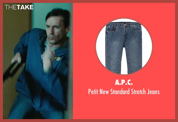 A.P.C. blue jeans from The Town seen with Jon Hamm (FBI S.A. Adam Frawley)