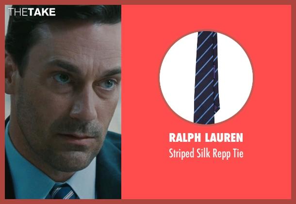 Ralph Lauren blue tie from The Town seen with Jon Hamm (FBI S.A. Adam Frawley)