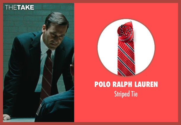 Polo Ralph Lauren red tie from The Town seen with Jon Hamm (FBI S.A. Adam Frawley)
