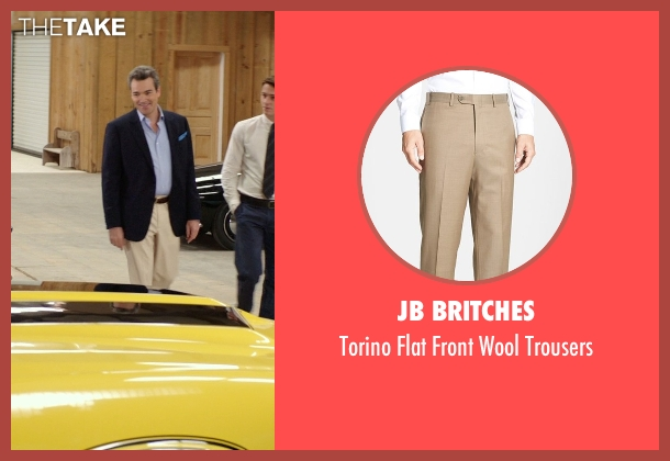 JB Britches beige trousers from The Best of Me seen with Jon Tenney (Harvey Collier)