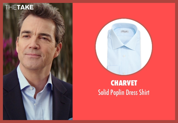 Charvet blue shirt from The Best of Me seen with Jon Tenney (Harvey Collier)