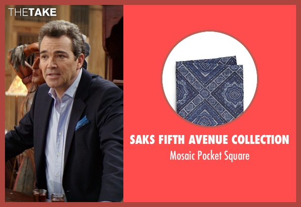 Saks Fifth Avenue Collection blue square from The Best of Me seen with Jon Tenney (Harvey Collier)