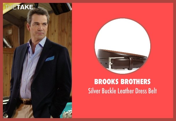 Brooks Brothers brown belt from The Best of Me seen with Jon Tenney (Harvey Collier)