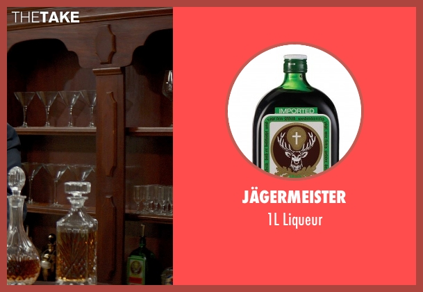Jägermeister liqueur from The Best of Me seen with Jon Tenney (Harvey Collier)