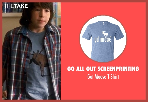 Go All Out Screenprinting blue t-shirt from Crazy, Stupid, Love. seen with Jonah Bobo (Robbie)