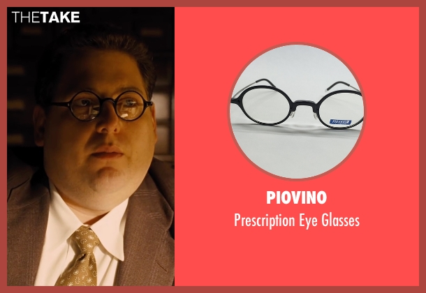 Piovino black glasses from Hail, Caesar! seen with Jonah Hill (Joseph Silverman)