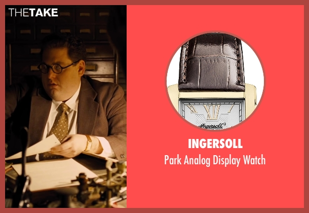 Ingersoll brown watch from Hail, Caesar! seen with Jonah Hill (Joseph Silverman)