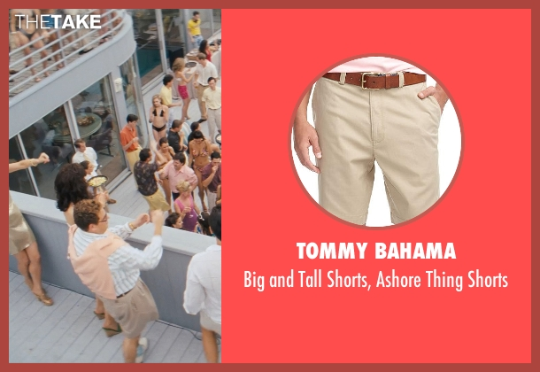 Tommy Bahama beige shorts from The Wolf of Wall Street seen with Jonah Hill (Donnie Azoff)