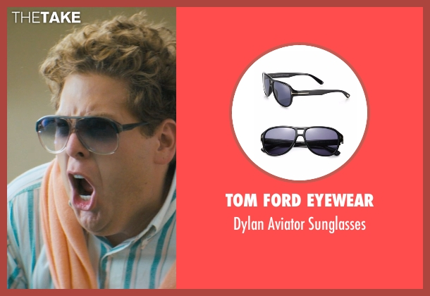 Tom Ford Eyewear black sunglasses from The Wolf of Wall Street seen with Jonah Hill (Donnie Azoff)