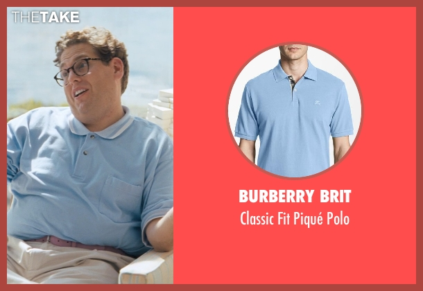 Burberry Brit blue polo from The Wolf of Wall Street seen with Jonah Hill (Donnie Azoff)