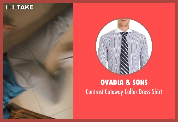 Ovadia & Sons blue shirt from The Wolf of Wall Street seen with Jonah Hill (Donnie Azoff)
