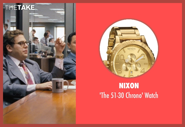 Nixon gold watch from The Wolf of Wall Street seen with Jonah Hill (Donnie Azoff)