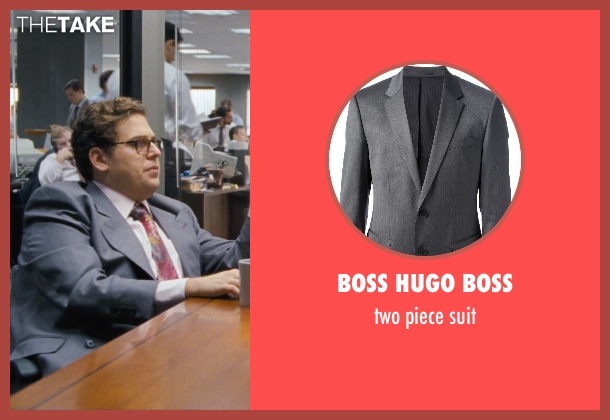 BOSS HUGO BOSS gray suit from The Wolf of Wall Street seen with Jonah Hill (Donnie Azoff)