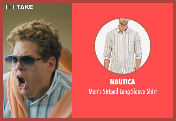 Nautica green shirt from The Wolf of Wall Street seen with Jonah Hill (Donnie Azoff)