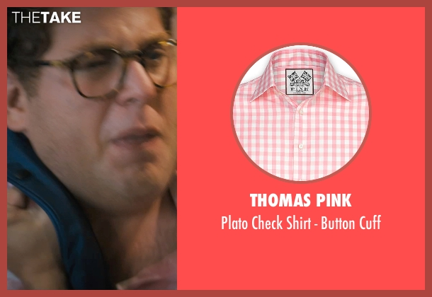 Thomas Pink pink cuff from The Wolf of Wall Street seen with Jonah Hill (Donnie Azoff)