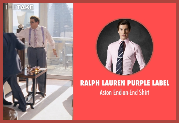 RALPH LAUREN PURPLE LABEL pink shirt from The Wolf of Wall Street seen with Jonah Hill (Donnie Azoff)