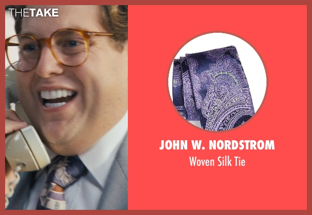 John W. Nordstrom purple tie from The Wolf of Wall Street seen with Jonah Hill (Donnie Azoff)