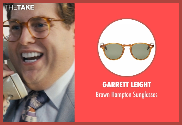 Garrett Leight sunglasses from The Wolf of Wall Street seen with Jonah Hill (Donnie Azoff)