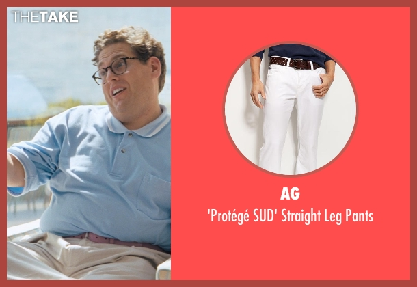 AG white pants from The Wolf of Wall Street seen with Jonah Hill (Donnie Azoff)