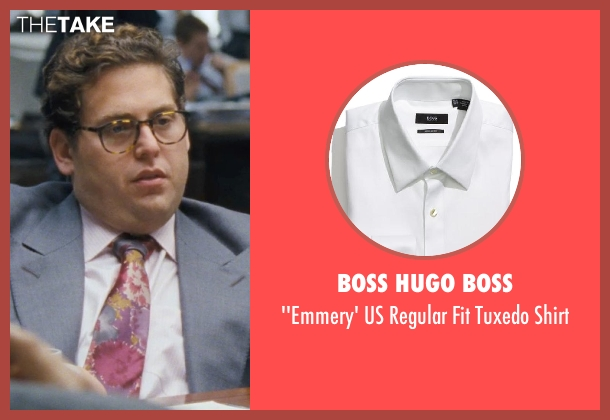 BOSS HUGO BOSS white shirt from The Wolf of Wall Street seen with Jonah Hill (Donnie Azoff)
