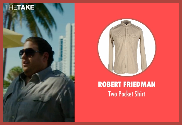Robert Friedman beige shirt from War Dogs seen with Jonah Hill (Efraim Diveroli)