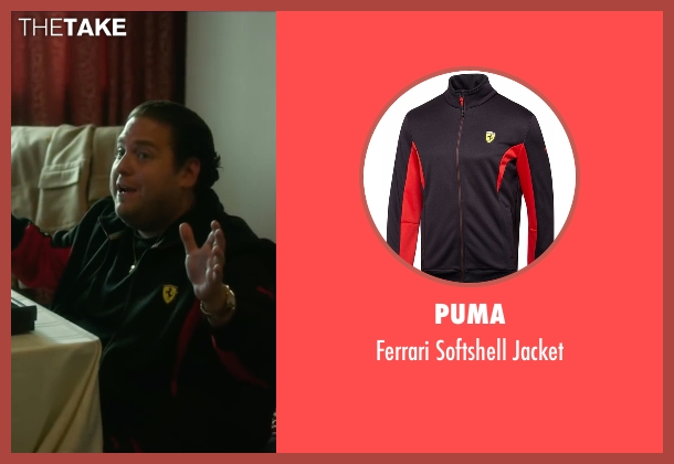 Puma black jacket from War Dogs seen with Jonah Hill (Efraim Diveroli)