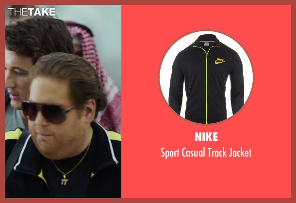 Nike black jacket from War Dogs seen with Jonah Hill (Efraim Diveroli)