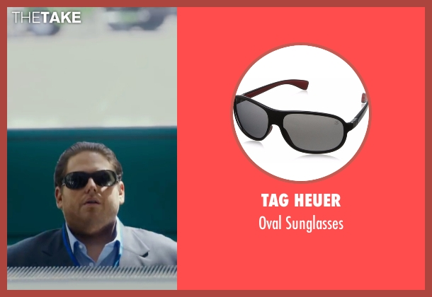 Tag Heuer black sunglasses from War Dogs seen with Jonah Hill (Efraim Diveroli)