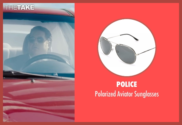 Police black sunglasses from War Dogs seen with Jonah Hill (Efraim Diveroli)