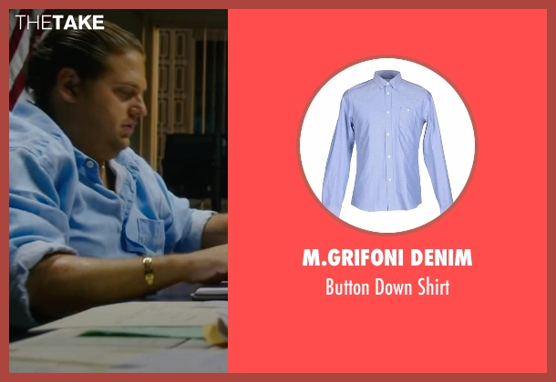 M.Grifoni Denim blue shirt from War Dogs seen with Jonah Hill (Efraim Diveroli)