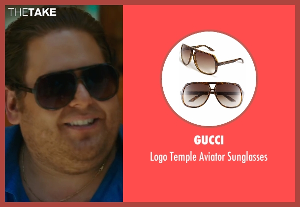 Gucci brown sunglasses from War Dogs seen with Jonah Hill (Efraim Diveroli)