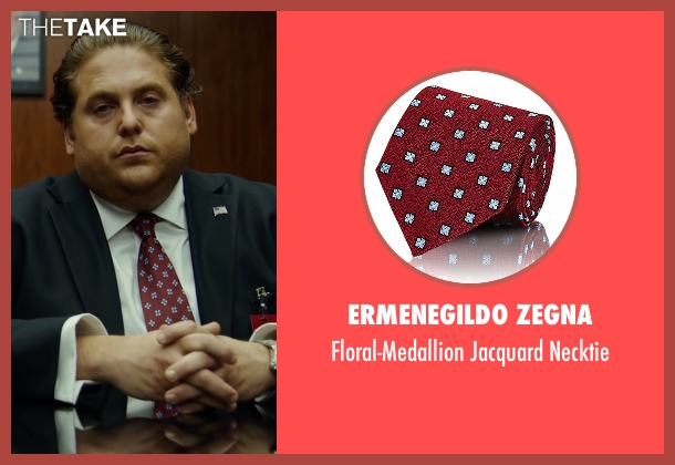 Ermenegildo Zegna red necktie from War Dogs seen with Jonah Hill (Efraim Diveroli)