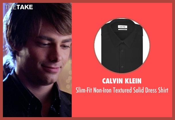 Calvin Klein black shirt from Mean Girls seen with Jonathan Bennett (Aaron Samuels)