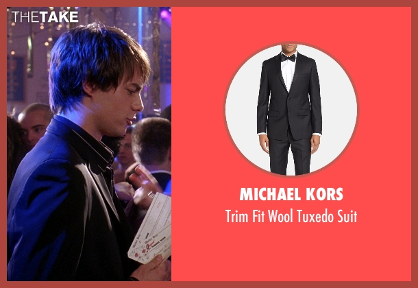 Michael Kors black suit from Mean Girls seen with Jonathan Bennett (Aaron Samuels)