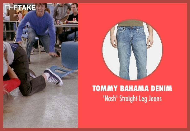 Tommy Bahama Denim blue jeans from Mean Girls seen with Jonathan Bennett (Aaron Samuels)
